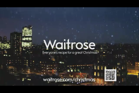 End frame from Waitrose's TV ad with QR code